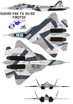 Sukhoi PAK FA SU-50 firefox by bagera3005 on DeviantArt