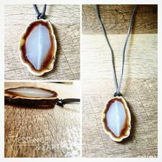 Genuine Crystal Stone Necklace by EssenceAndEarth on Etsy