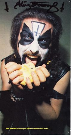 King Diamond discovering the difference between Gouda and evil