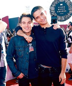 Dylan Sprayberry and Tyler Posey attend the 2014 MTV Video Music Awards at The Forum on August 24, 2014 in Inglewood, California
