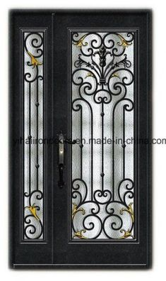 Hand Crafted Metal Double Door Iron Door – China Door, Steel…- Hand Crafted Me… Iron Front Door, Double Front Doors, Double Door Design, Main Door Design, Grill Door Design, Double Doors Exterior, Iron Gate Design, Wrought Iron Doors, Rustic Doors