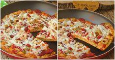 Tava Pizzası nasıl yapılır? Kolayca yapacağınız Tava Pizzası tarifini adım adım RESİMLİ olarak anlattık. Eminiz ki Tava Pizzası tarifimizi yaptığınız da, siz de Hawaiian Pizza, Vegetable Pizza, Food And Drink, Vegetables, Breakfast, Morning Coffee, Vegetable Recipes, Veggies