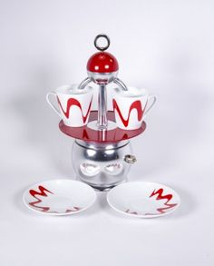 Espressokocher - Top Moka Premium - Crema 2 Cups - rot Moka, Coffee Maker, Jar, Christmas Ornaments, Holiday Decor, Design, Cups, Shop, Home Decor