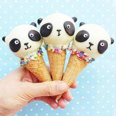 Panda ice cream... love it! vickiee_yo •