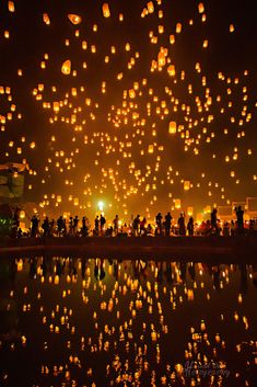 - weeks - direct flight to Chiang Mai or via Ban . - weeks - direct flight to Chiang Mai or via Bangkok, Singapore, Thailand Destinations, Thailand Travel, Thailand Honeymoon, Travel Destinations, Floating Lanterns, Sky Lanterns, Lantern Festival Thailand, Bangkok, Beautiful World
