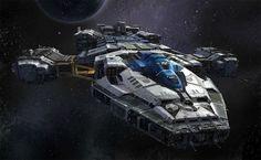 Star wars T. Gen Civilian Cargo Ship by on DeviantArt Spaceship Art, Spaceship Design, Concept Ships, Concept Art, Kampfstern Galactica, Battlestar Galactica, Starship Concept, Sci Fi Spaceships, Space Engineers