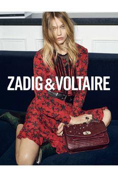 Zadig & Voltaire remus print robe printee red woman dress