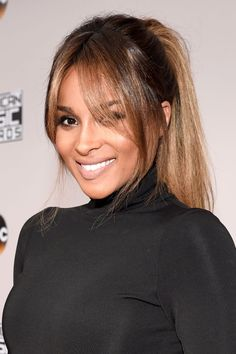 Ciara rocked this soft Bardot inspired ponytail to the 2016 American Music Awards last night!