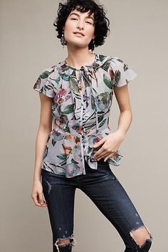 Amarillo Cinched-Waist Top - anthropologie.com