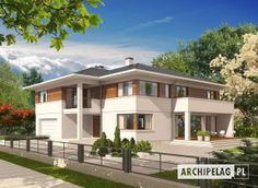 Projekty domów ARCHIPELAG - Nati G2 (z piwnicą)