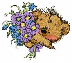 Bouquet for you 5 machine embroidery design. Machine embroidery design. www.embroideres.com