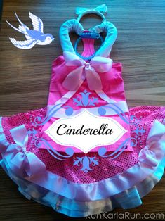 Making a Cinderella pink dress running costume for your next runDisney race is easy with a pink skirt and tank, and a few ribbons, beads and more.