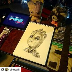 Groot baby  . . . #babygroot #groot #gardianofthegalaxyvol2 #gardianofthegalaxy #mario #Draw #Drawing #Art #Fanart #Artist #Illustration #Design #sketch #doodle #tattoo #Arthelp #Anime #Manga #Otaku #Gamer #Nerdy #Nerd #Comic #Geek #Geeky
