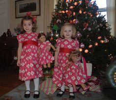 Matching precious dresses AGD Christmas Dresses too