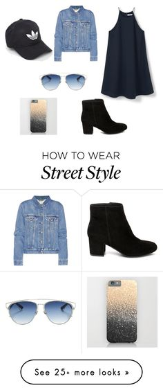 """""""Street style"""" by chandandeep on Polyvore featuring Acne Studios, Steve Madden, adidas, Christian Dior, denimjackets and WardrobeStaples"""