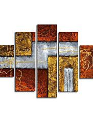 Hand-Painted Abstract Five Panels Canvas Oil Painting For Home Decoration – AUD $ 239.24