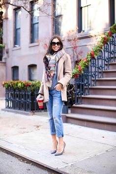 J.Crew coat (also love this one) // Equipment sweater Current Elliott jeans (size down, love...