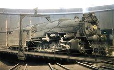 Pennsylvania Railroad 2-10-0 Decapod, I1 class, steam locomotive # 4314, is seen on a roundhouse turntable in East Altoona, Pennsylvania, September 16, 1955, John Dziobko Jr. Photo