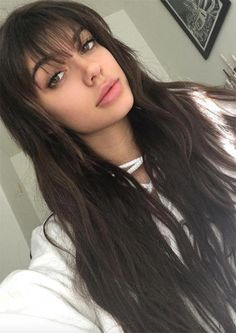 55 Dope Long Haircuts with Bangs: Tips on Wearing Fringe Hairstyles – Latest Hairstyles bob hairstyles Long Haircuts With Bangs, Long Fringe Hairstyles, Hairstyles With Bangs, Latest Hairstyles, Layered Haircuts, Prom Hairstyles, Long Hairstyles With Fringe, Women Haircuts Long, Evening Hairstyles
