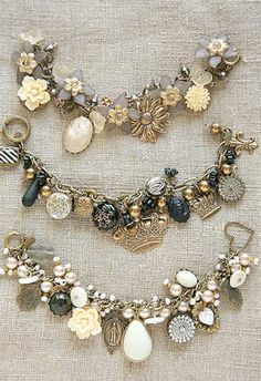 just one more example. again, opt for more vintage inspired charms, or just one that reminds you of me. Nothing with a bunch of charms all about super materialistic things like shoes, purses, makeup, etc.