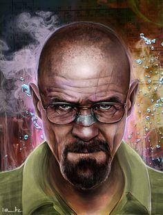Heisenberg Art Print by imorawetz – Graffiti World Walter White, Heisenberg Art, Breaking Bad Art, Bad Painting, Graffiti Tattoo, Nerd, Great Tv Shows, Fantasy, Urban Art