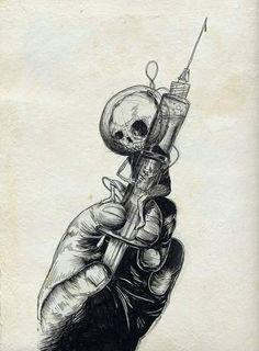 ideas for dark art drawings sketches death Dark Art Drawings, Cool Drawings, Drawing Sketches, Skull Drawings, Drawing Art, Arte Horror, Horror Art, Pinterest Arte, Graffiti Kunst