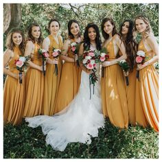 Summer Wedding Dresses A-Line V-neck Long Cheap Yellow Chiffon Convertible Bridesmaid Dresses, Mustard Bridesmaid Dresses, Yellow Bridesmaid Dresses, Bridesmaid Dresses Online, Yellow Wedding Dress, Marie's Wedding, Wedding Bridesmaids, Summer Wedding, Wedding Gowns, Wedding Ideas
