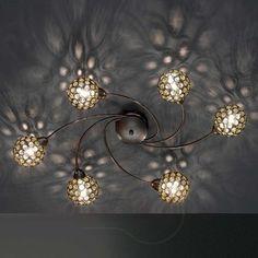 Plafondlamp JONA met acryl prismas, 17 cm 4580626
