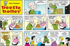 Beetle Bailey Comic Strip for September 2013 Beetle Bailey Comic, Comic Book Characters, Comic Books, Mort Walker, Calvin And Hobbes, Tarzan, Comic Strips, The Funny, Comic Art