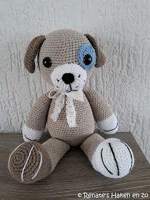 Renate's Haken en zo: Lieve knuffeltjes hondje / little dog