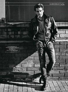 Jon Kortajarena photographed by Sergi Pons and styled by Miguel Arnau for the April 2012 issue of GQ France. by Hombre Chic, via Flickr