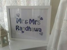 Mr and Mrs custom frame