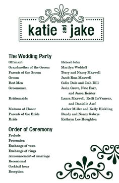 Free Printable Wedding Programs Custom Printables Katie S Program
