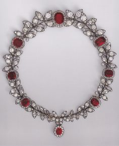 A Belle Epoque ruby and diamond necklace, by Boucheron, circa 1888. Created for Marie-Louise Mackay. Source: Boucheron, The Secret Archives, Vincent Meylan
