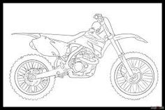 "Okay, lets see, this tutorial will show you ""how to draw a dirt bike step by step"". Dirt bikes have been around for many years dating as far back as 1 Colouring Pages, Coloring Pages For Kids, Coloring Sheets, Adult Coloring, Dirt Bike Tattoo, Bike Tattoos, Drawing Sites, Online Drawing, Drawing Guide"
