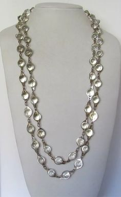 Mid Century Pools of Light Necklace : White Bird Vintage Jewelry Jewlery, Jewelry Necklaces, Pinterest Jewelry, Ruby Lane, Clear Crystal, Pools, Jewelry Collection, Vintage Jewelry, Mid Century