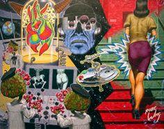 Cinnabar's Cybernoid Art Ray Scholastic Designation: Beauty Is Best Expressed 1993 by Robert L Williams - Screenprint Robert Williams, Hippie Peace, Bristol Board, Motorcycle Art, Lowbrow Art, Pop Surrealism, Fantastic Art, Awesome, Retro Futurism