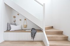 Renovations 7 Clever Under-The-Stairs Ideas That Make the Most of Every Square Inch Along with publi Engineered Timber Flooring, Home Interior, Interior Design, Cool Color Palette, Room Tiles, Dining Furniture, House Design, Home Decor, Basement Ceilings