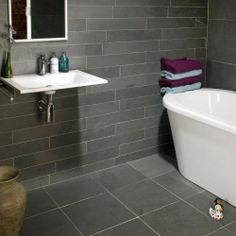 Etonnant Gray Bathroom Ideas | Brazil Grey Slate | Bathroom Ideas Grey Slate Bathroom,  Slate Tile