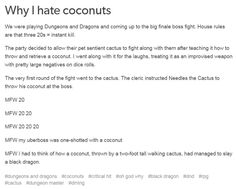 dnd coconuts story critical hit