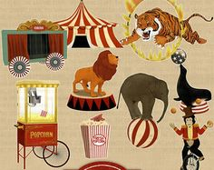 Popular items for vintage circus on Etsy