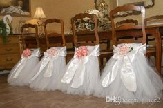 Tutu chair skirts ~ Wholesale 2015 Tutu Chair Skirts In Stock White Pink Red Violet Tulle Chair Sashes for Wedding Party Banquet and Birthday, Free shipping, $26.71/Piece | DHgate Mobile