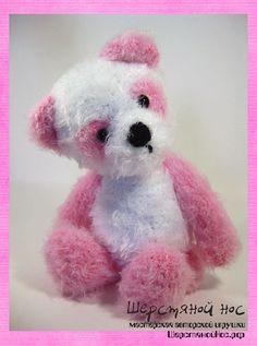 "Розовый мишка-панда. Коллекция ""Малыши"" #teddybears #handmade #toys #teddybears #presents #knitting"