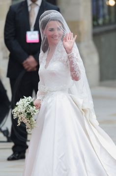 Photo by: Mike Marsland/Getty Images  On her first day as royalty, Kate nailed it. Dressed in the Alexander McQueen lace gown she managed to keep a secret until April 29th, Kate had the world at hello when she stepped onto the church steps. Any doubts as to whether she could hold her own as a model princess, were swiftly brushed aside....
