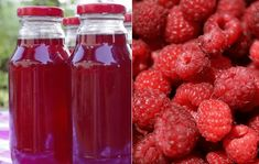 recept_na_malinovy_sirup Home Canning, Preserves, Lemonade, Pickles, Detox, Raspberry, Food And Drink, Smoothie, Ice Cream