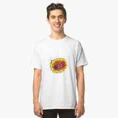 'Helios Greek God of Sun Head Drawing Color' T-Shirt by patrimonio Greek Gods, Greek Mythology, Tshirt Colors, Chiffon Tops, Classic T Shirts, T Shirts For Women, Retro, Drawings, Sun