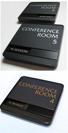 Executive Conference Room Signs | Availability In-Out Signs | Sliding Office Signs