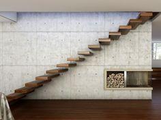 Kragarmtreppe aus Holz 800 by Interbau Suedtirol Treppen