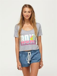 pewnineties baby crop tee by roxy frt