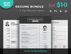 Professional Resume Template / CV Template with super clean and modern look. Clean Resume Template page designs are easy to use and customize, so you can quickly tailor-make your job resu...